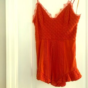 RED saks fifth avenue Other - Coral eyelet romper by RED Saks Fifth Avenue